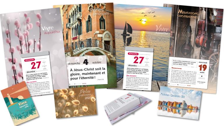 L'offre 2020 de calendriers des Editions CAEF